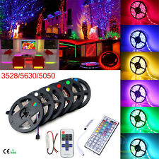 5M Led Strip 3528/5050/5630 SMD RGB Warm/White 300 Light Strips+Key Remote+Power
