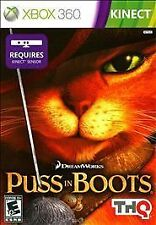 BRAND NEW Microsoft XBox 360 Kinect Game Dreamworks Puss in Boots