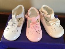 BABY TODDLER GIRL SPANISH PARTY WEDDING FLOWER GIRL SPARKLE BOW WALKING SHOES