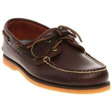 Timberland Men Casual Shoes Classic Two Eye Boat Shoes Root Beer