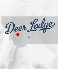 Deer Lodge, Montana MT MAP Souvenir T Shirt All Sizes & Colors