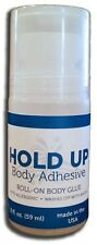 2 BOTTLES Body Adhesive HOLD UP Pantyhose glue socks Butt Glue Roll On It Stays