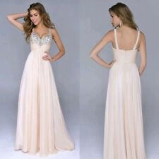 Bridesmaid Sexy Sequins Lady Party Gown Bandage Dress Chiffon Formal Long Dress