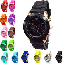 Geneva Silicone Band Quartz Jelly Bracelet Wrist Watches For Women/Ladies/Girls