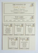 Wedding Place Card * Table Number * Menu * Camera Card * Table Plan * Signs *VG*