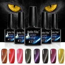 BELLE FILLE  3D Cat Eye Nail Art Gel Polish Soak-off UV/LED +Magnetic stick 10ML