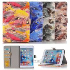 Folio Painting Wallet Leather Stand Magnetic Smart Case Cover For Apple iPad