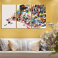 3PC Canvas No Frame Modern Abstract Figure Running Portait  Painting Home Decor