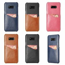 For Galaxy S8 / S8 Plus New BRG Credit Card Slot Leather Back Skin Case Cover