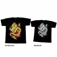 T – Shirt Dragon Dragon black Printed on both sides New