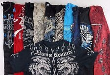 12 Random Men's Graphic Tees w Affliction Brand Shirt S M L SUPER GREAT DEAL!