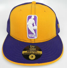 LOS ANGELES LAKERS LOGOMAN NBA VINTAGE NEW ERA 59FIFTY FITTED SIZES  CAP HAT NEW