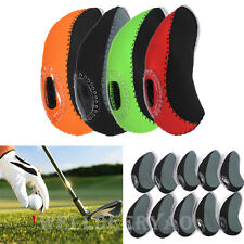 10Pcs/Set Neoprene Golf Head Covers Club Iron Putter Head Protector Headcovers