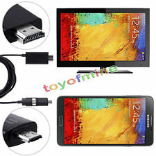 5 Pin & 11 Pin Micro USB MHL to HDMI 1080P HD TV Cable Adapter for Android Phone