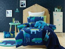 Jiggle & Giggle Animal Patch Safari Quilt Doona Cover Set - Single Double Queen