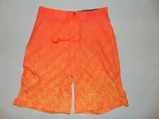 Mens Champion Duo Dry Board Short Neon Orange/ Gray Size 34 or 32 NEW