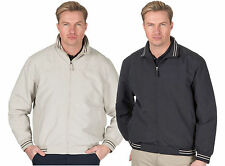 Men's Microfibre Bomber Jacket Zipped With Pockets Classic Summer Golf Coat