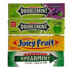 Wrigley's Chewing Gum Doublemint,Spearmint,Juicy Fruit,Blueberry Mint From Thai