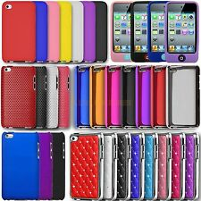 Silicone Hydro Gel TPU Circle Bling Hard Case For iPod Touch 4, 4th Generation