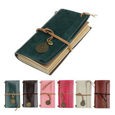 Classic Vintage Retro Leather Journal Travel Notepad Office Notebook Blank Diary