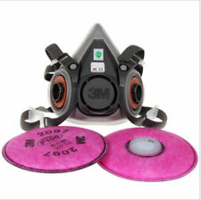 3 in 1 Half face Respirator Spray Painting Dust Mask For 6200 & 2097 Filters