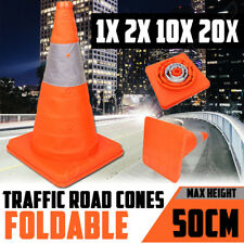 Folding Traffic Road Cone Reflective Tape Warning Sign Safety Witches Hat Orange
