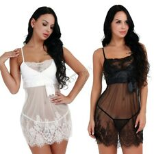 Sexy-Womens Lace Lingerie Nightwear Underwear G-string Babydoll Sleepwear Dress