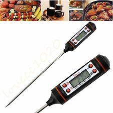 Digital Cooking Food Probe Meat Kitchen BBQ Selectable Sensor Thermometer Hot BE