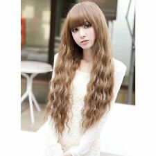 Beauty Fashion Womens Lady Long Curly Wavy Hair Full Wigs Cosplay Party Hot  BE