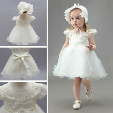 Baby Girl Dress Cristening Baptism Dress Special Occasion Birthday Clothes 0-2Y