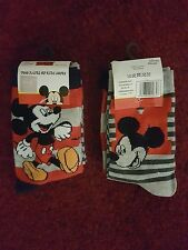 Disney Mickey Mouse Socks with for Kids- 2 PAIRS of Socks