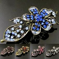 ADD'L Item FREE Shipping - Antiqued Rhinestone Flower Hair Barrette Clip