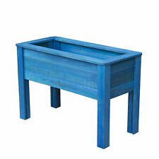 2ft x 1ft WOODEN CHILDRENS GARDEN TABLE PLANTER RED BLUE OUTDOOR RAISED PLANTERS