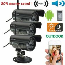 3pcs HD Home Security IP Camera Wifi Wired System Internet Outdoor WeatherproBE