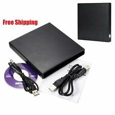 Portable USB 2.0 DVD CD DVD-Rom SATA External Case Slim for Laptop Notebook BG