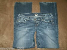 Silver Pioneer distressed jeans womens size 29/33