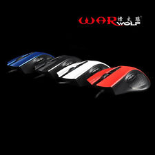 Gaming Mouse Wired USB 4 Buttons 1600DPI High Precision Optical Gamer Mouse BE