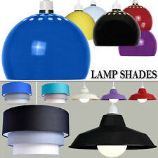 Modern Metal 3 Tier Fabric Dome Retro Style Ceiling Pendant Light Lamp Shades