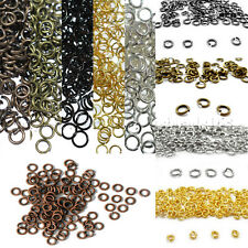Wholesale Silver Gold Pewter Gunmetal Bronze Copper Plated Open Split Jump Rings