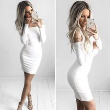Off Shoulder Summer Women Sexy Bodycon Dress Party Evening Cocktail Mini Dress