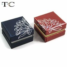 12pcs Red Blue Paper Earring Studs Case Jewelry Packing Gift Box Ring Holder