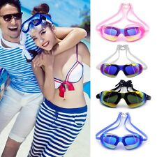 Fashion Adult men Anti-fog Waterproof UV Protection Swimming Goggles Glasses BE