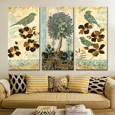 Canvas Painting Home Decor Art Cartoon Bird Painting for Living Room3PC No Frame