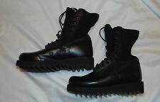 US Military Altama Black Jungle Combat Tactical Leather Boots Ripple Soles