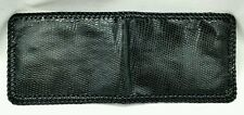 NEW LIZARD WALLET BLACK Genuine EXOTIC Bifold MEN'S Western Leather Billfold