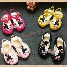 Cute Summer Cartoon Minnie Mouse Mickey Sandals Jelly Shoes Kid Girl New Toddler