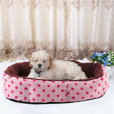 Pet Dog Bed Dot Print 8 Angle Cute Red Cat Bed Sofa Animal Mat Sleeping Nest BE