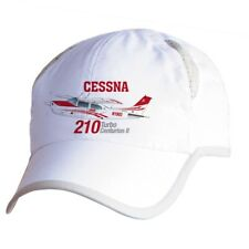 Cessna 210 Turbo Centurion II (Red) Airplane Pilot Hat - Personalized with N#