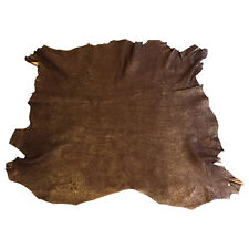 Brown Genuine Lambskin Full Leather Hides with Metallic Copper Finish FS920