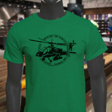 MILITARY HELICOPTER ARMY AIR FORCES PROUD PATRIOT Mens Green T-Shirt